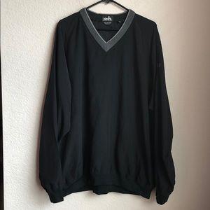 Ashworth XXL Black V-Neck Golf Pullover Sweater